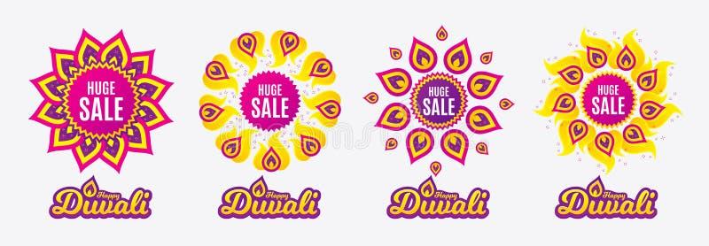 enorm försäljning Tecken för pris för specialt erbjudande vektor vektor illustrationer
