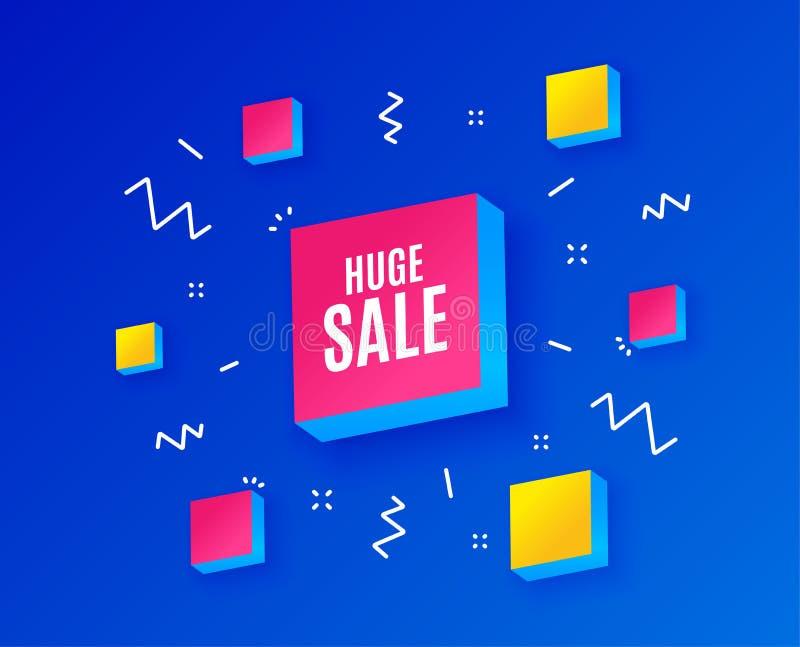 enorm försäljning Tecken för pris för specialt erbjudande vektor stock illustrationer