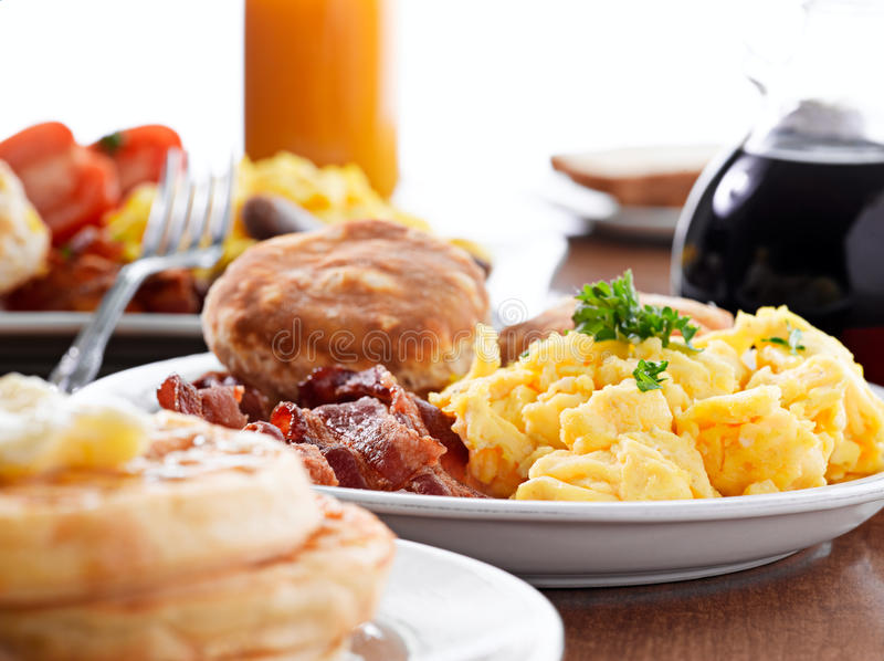 enorm frukost royaltyfri foto