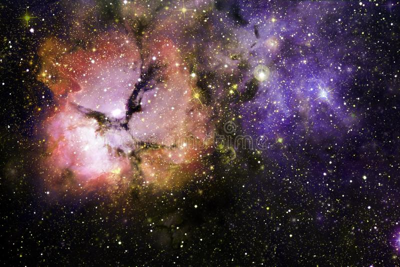 Enorm galax i yttre rymd Starfields av ändlöst kosmos arkivbild