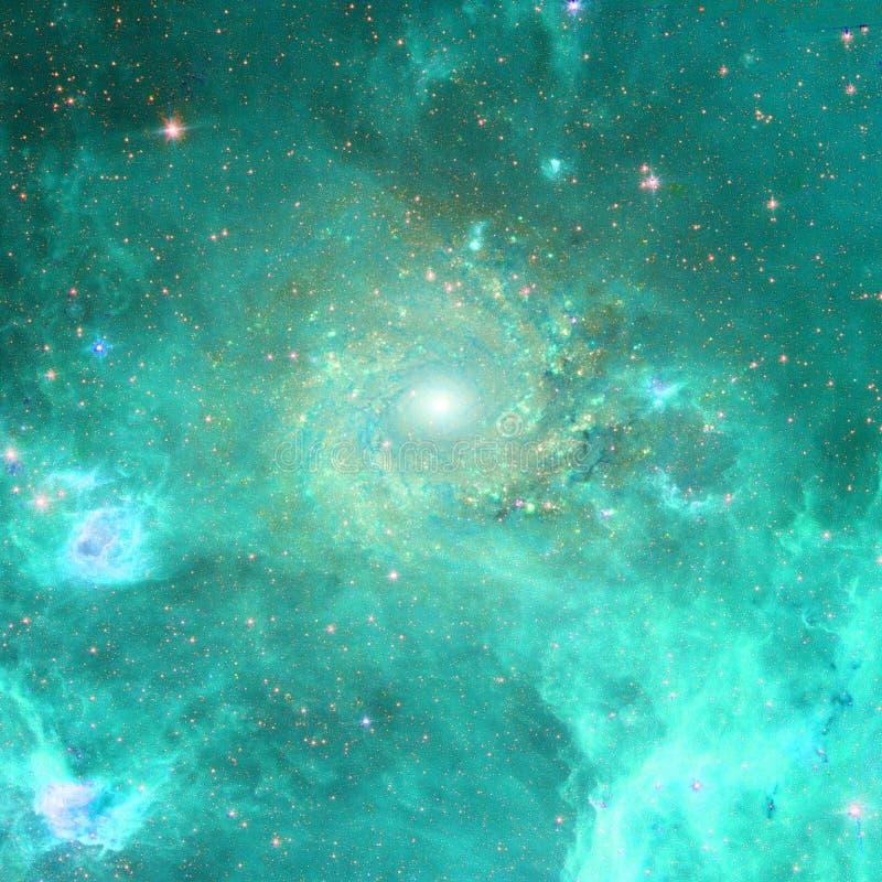 Enorm skönhet av starfield någonstans i djupt utrymme arkivbilder