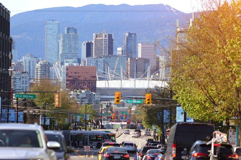 Enorm stad för trafikstockning royaltyfria foton