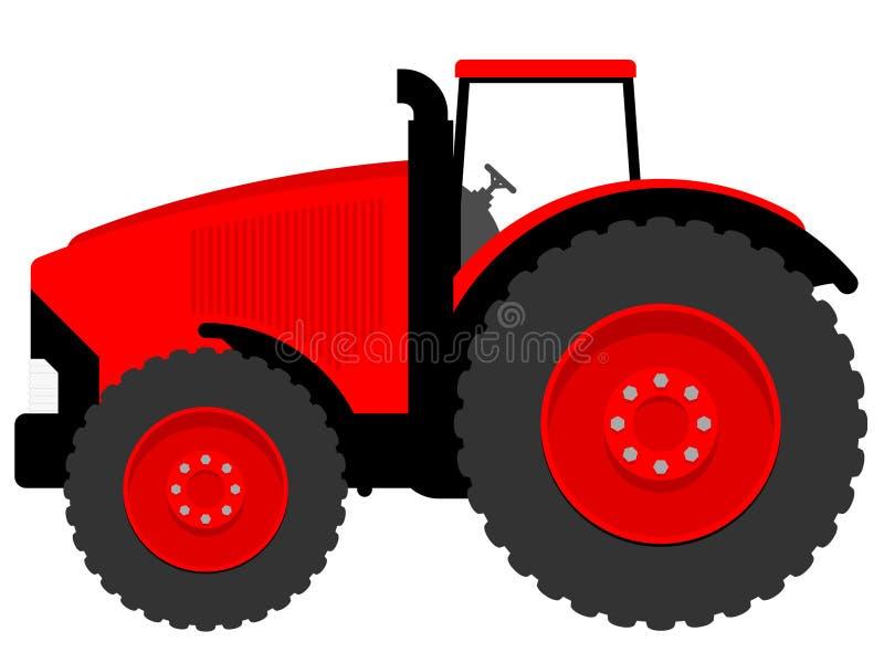 enorm traktor stock illustrationer