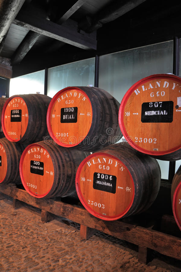 Enorma trummor markeras av vin royaltyfri foto