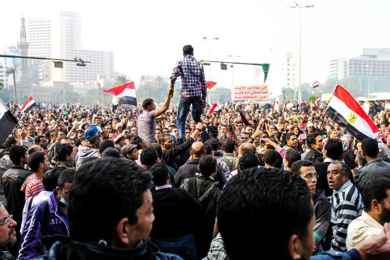Enorme Demonstration, Kairo, Ägypten stockfotos