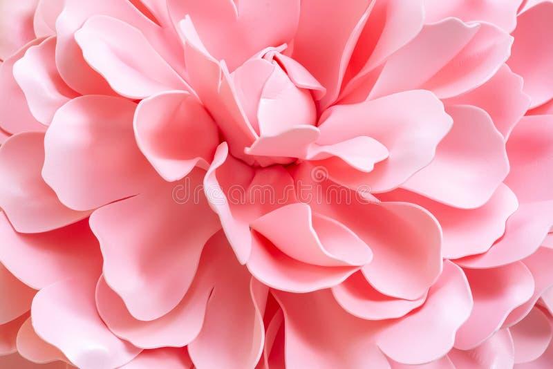 Enorme künstliche Rose Background Rosafarbener Blumenabschlu? oben stockfotos