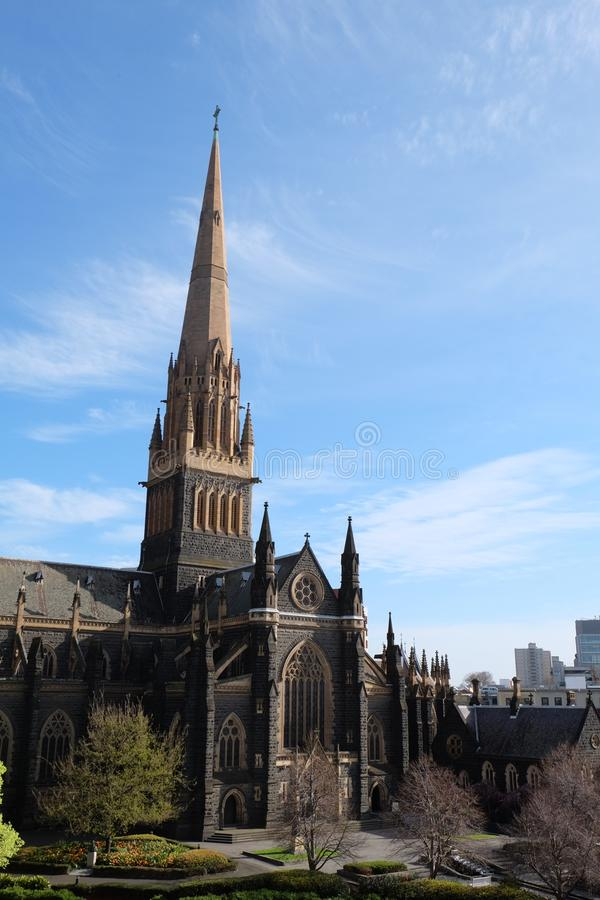 Enorme Kirche von Melbourne Australien stockfoto