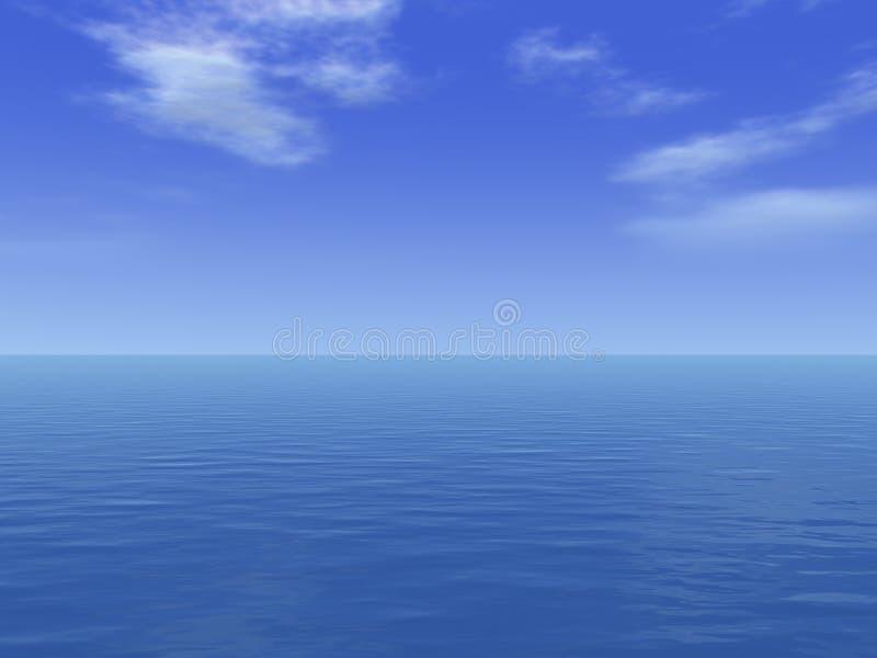 Enorme overzeese diepe oceaan royalty-vrije stock foto