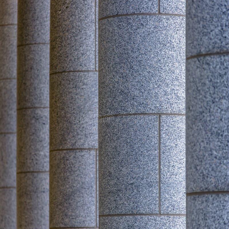 Enorme Steinsäulen des Staat Utah-Kapitalgebäudes lizenzfreie stockfotografie