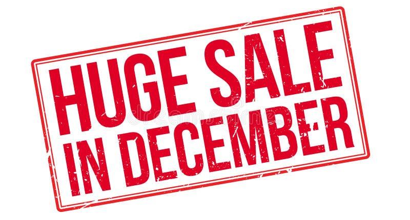 Enormer Verkauf im Dezember vektor abbildung