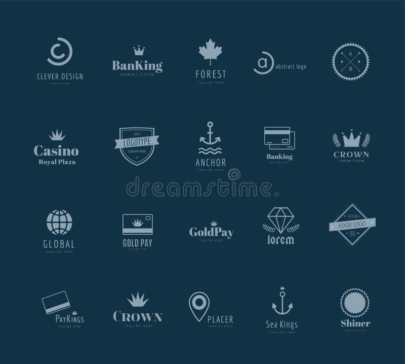 Enormes Logo wird Schablonenbündel deutlich lizenzfreie abbildung