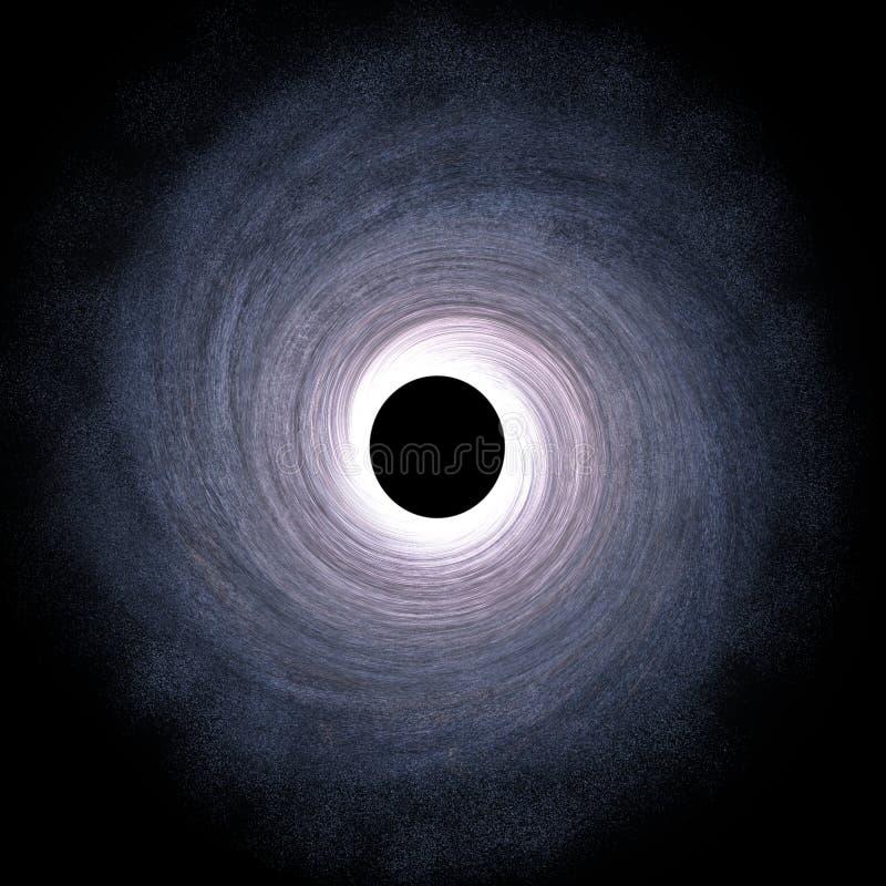 Enormes schwarzes Loch in der Mitte der Galaxie - 3D übertrug Digital-Illustration vektor abbildung
