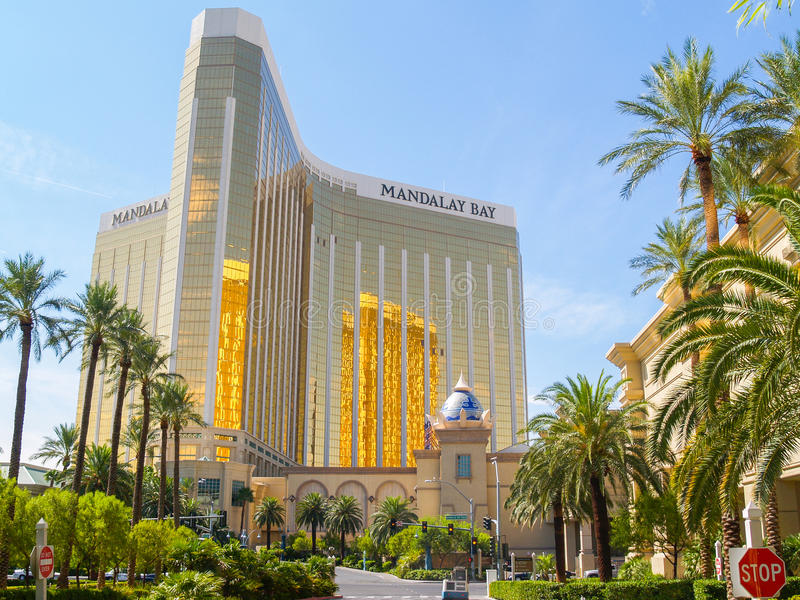 Enormous Mandalay Bay Hotel Resort and Casino Las Vegas. royalty free stock images
