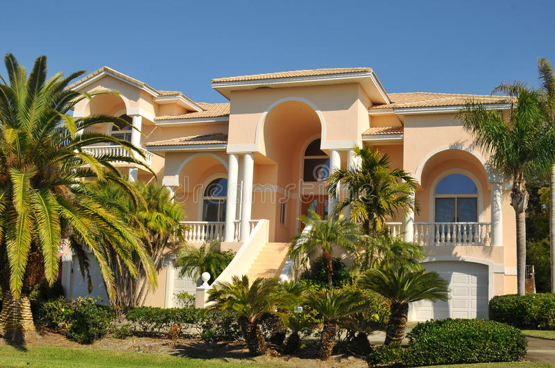 Download Enormous Neo Mediterranean Home Stock Photo - Image: 17929338