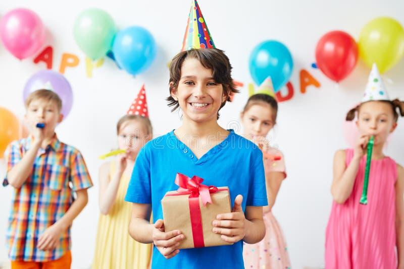 Enormt födelsedagparti! arkivfoto