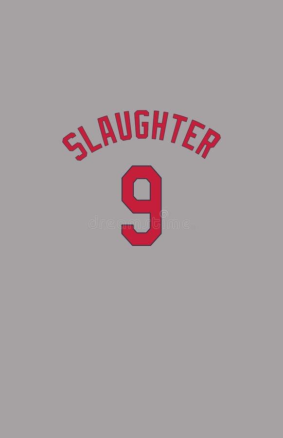 Enos Slaughter, St. Louis Cardinals Jersey Back.  stock photos