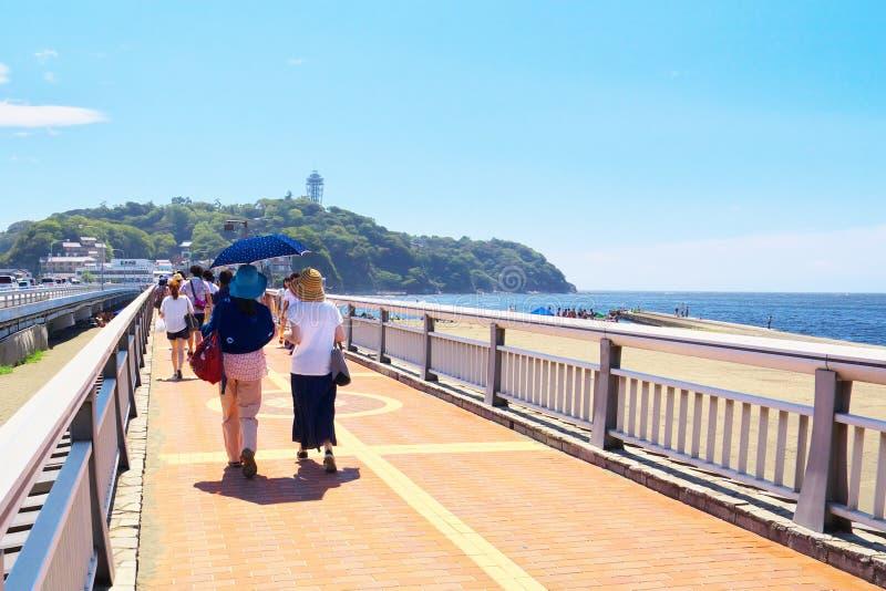 Enoshima benten桥梁, Enoshima门户  免版税库存照片