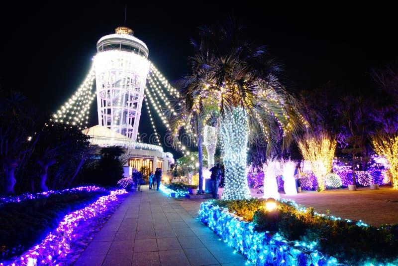 Enoshima Denne świeczki iluminacja zdjęcia royalty free