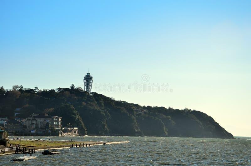 Enoshima während des Herbstes. lizenzfreies stockbild