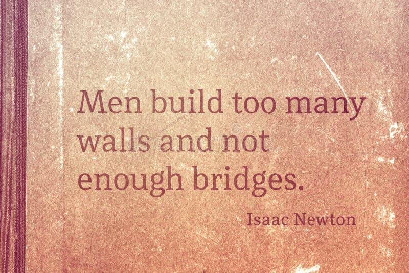 Enough bridges Newton stock illustration