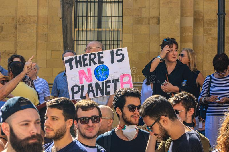 The Enough is enough protest Valletta, Malta. 7th Seprember 2019. stock image