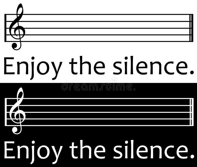 Enoy il silenzio royalty illustrazione gratis