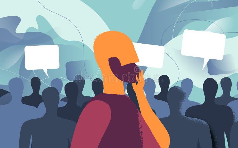 Enquête des avis des utilisateurs et des personnes illustration libre de droits