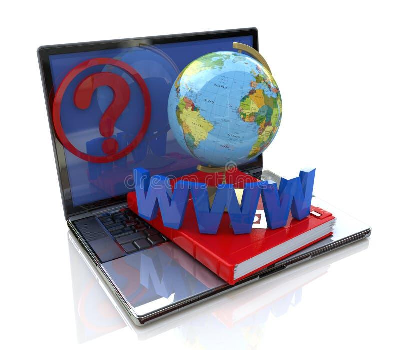 Enquête en ligne globale illustration stock