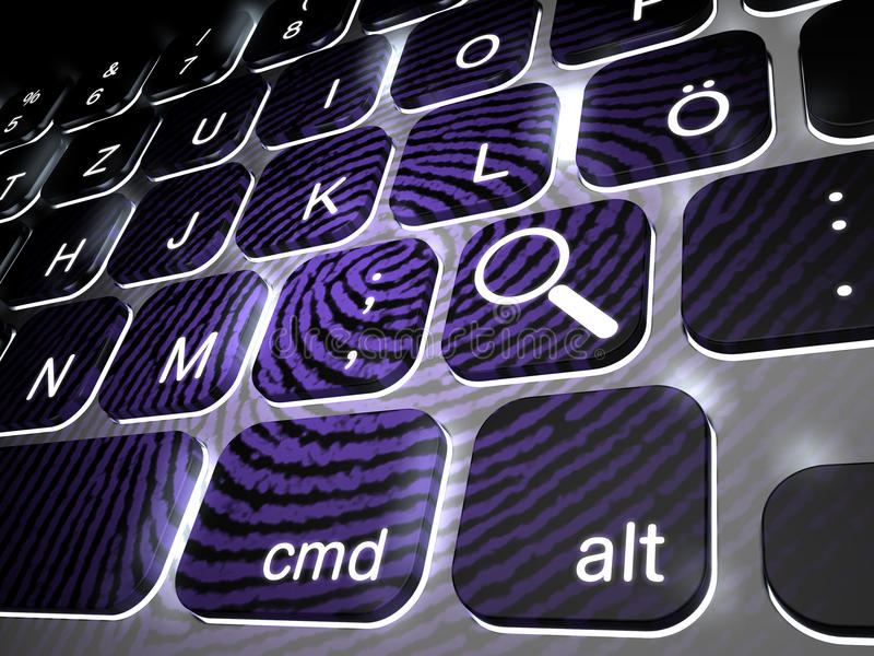 Enquête privée, crime de cyber illustration libre de droits