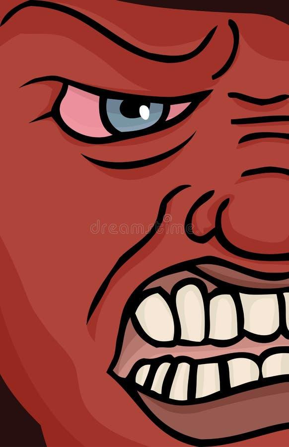 enraged сторона иллюстрация штока