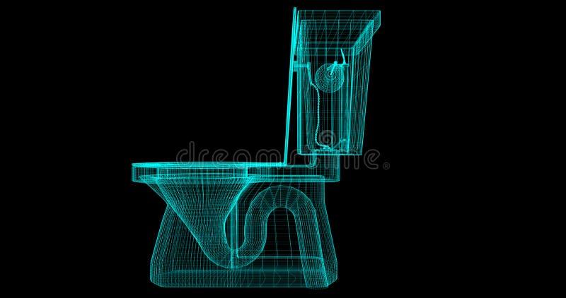 Enram av en toalett, 3D som framförs med mina egna design royaltyfri illustrationer