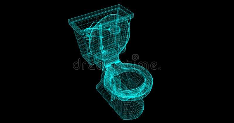 Enram av en toalett, 3D som framförs med mina egna design stock illustrationer