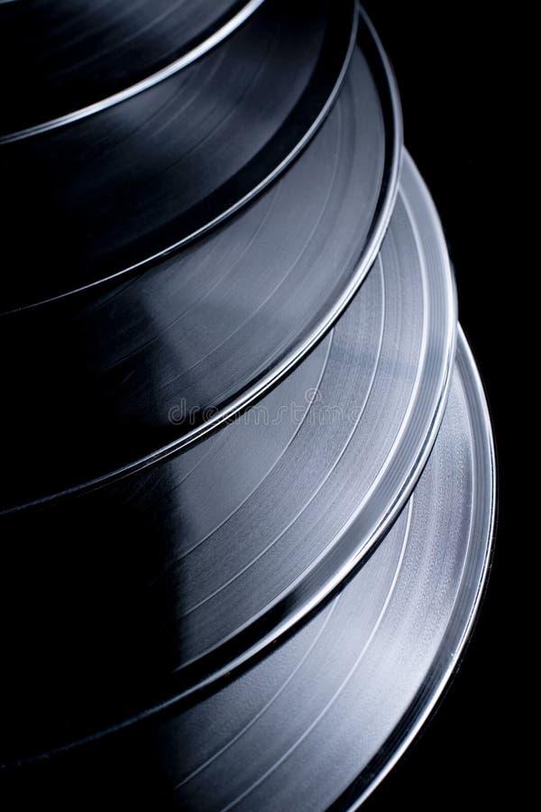 enregistre le vinyle photographie stock