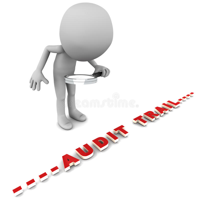 Enregistrement d'audit illustration stock