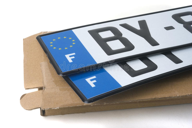 Enregistrement d'automobile image libre de droits