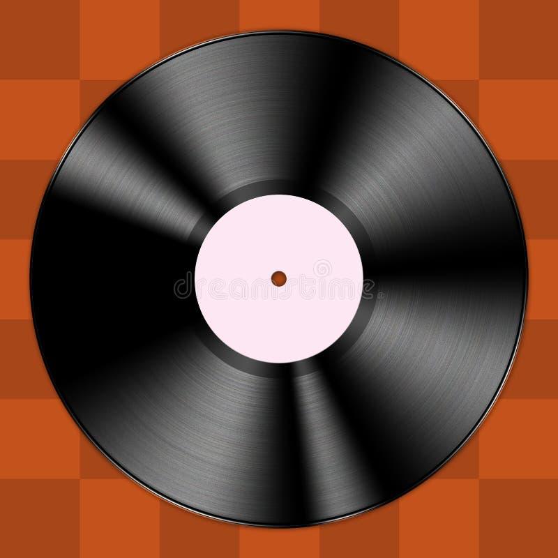 Enregistrement de vinyle illustration stock