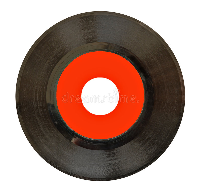 enregistrement de vinyle 45rpm photo libre de droits