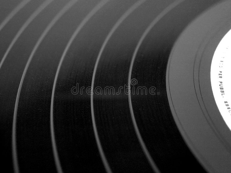 Enregistrement de vinyle photographie stock libre de droits