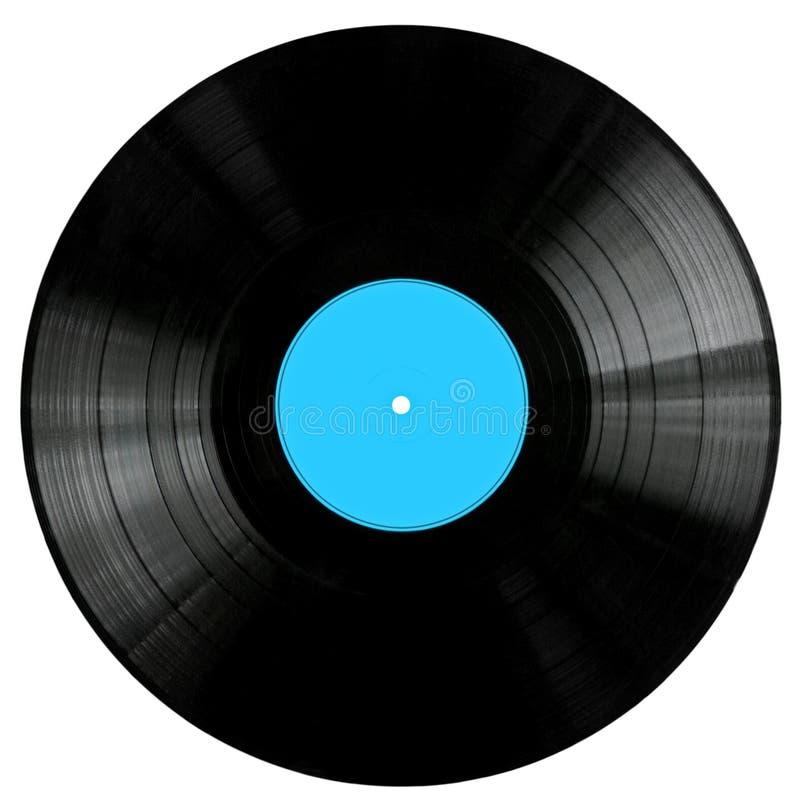 Enregistrement de vinyle avec BlueLabel illustration de vecteur