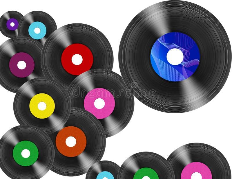 Enregistrements de vinyle illustration de vecteur