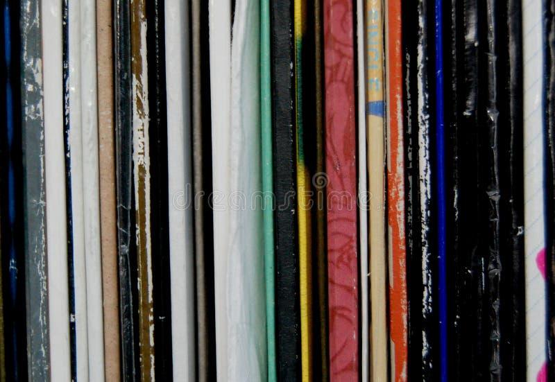 Enregistrements de vinyle photo stock