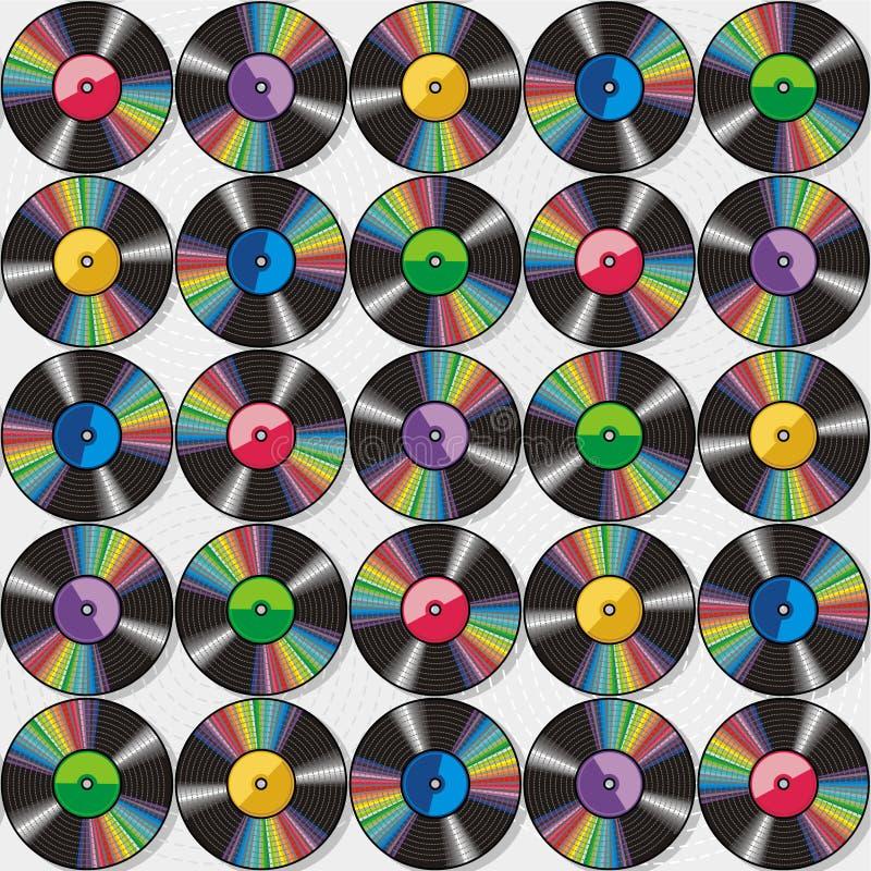 Enregistrements de vinyle sans joint configuration ou fond illustration libre de droits