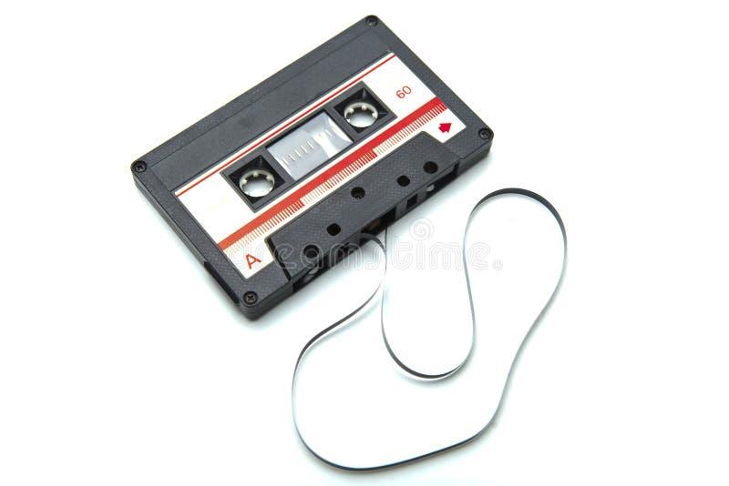 Enregistreur à cassettes d'isolement sur le blanc avec le chemin de coupure photo stock