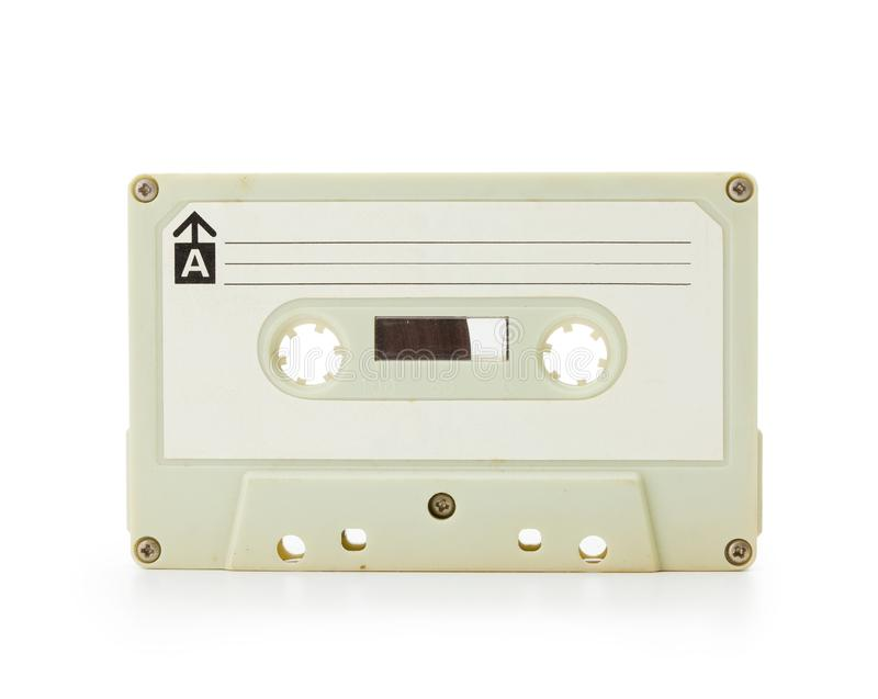 Enregistreur à cassettes du début des années 70 d'isolement sur le blanc image libre de droits
