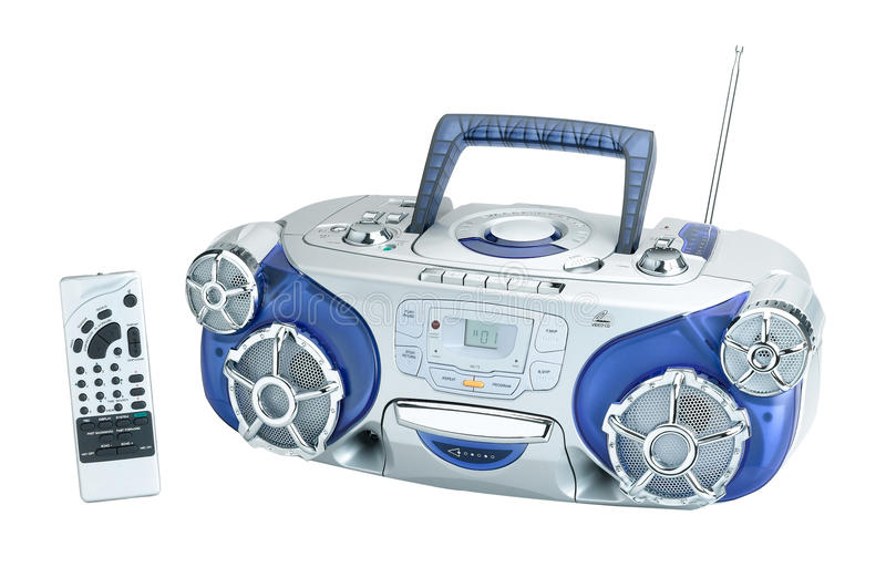 Enregistreur à cassettes par radio image libre de droits