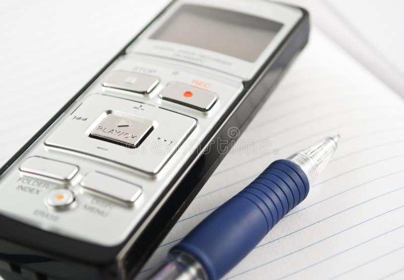 Enregistreur de voix photo libre de droits