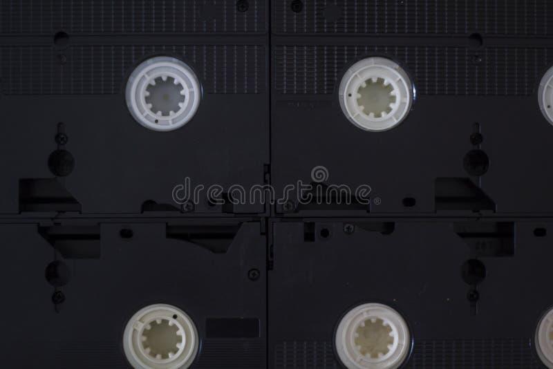 Enregistreurs à cassettes de VHS images libres de droits