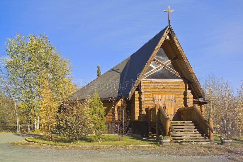 Enregistrez l'église, jonction de Haines, Yukon, Canada photographie stock