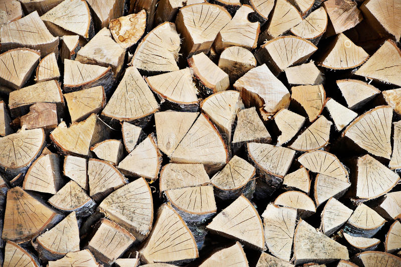 Enregistrez le bois de chauffage image stock
