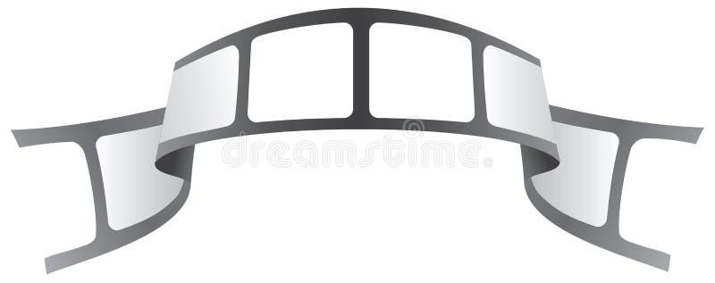 Enregistrez le logo sur bande illustration de vecteur